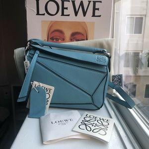 Loewe Mini Puzzle Bag- Blue